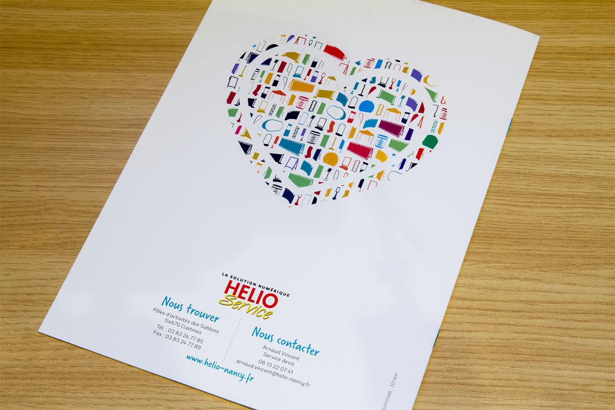 Graphisme plaquette commerciale Hélio service