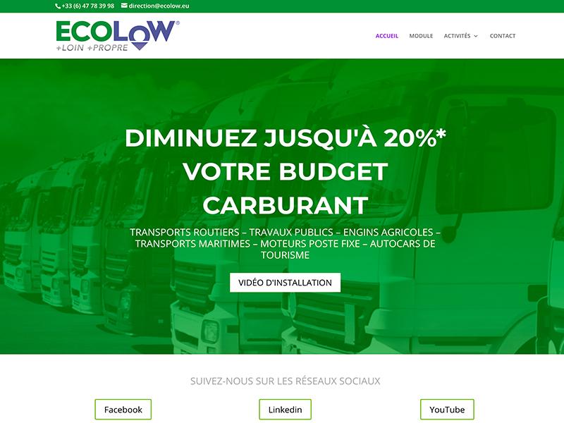 Création et graphisme site ECOLOW®